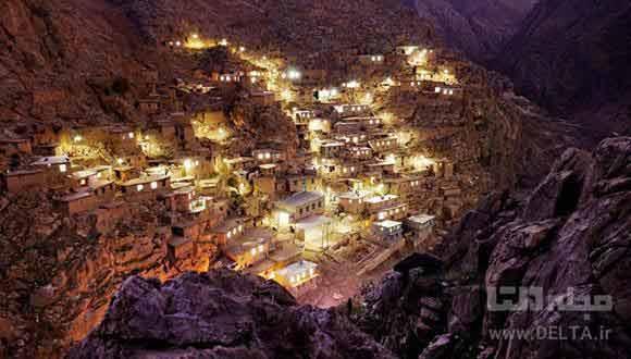 روستای پالنگان کردستان ، تلاقی کوه و رودخانه و دره