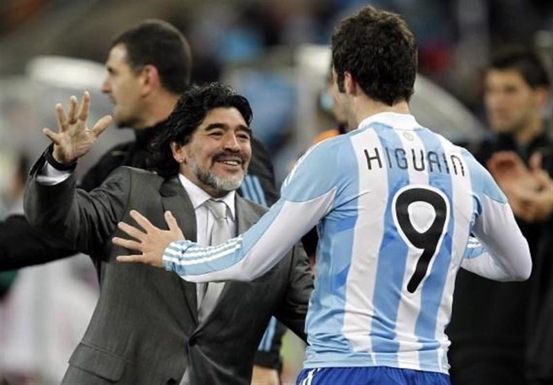 مارادونا: مثل ایگواین به ناپولی خیانت نکردم