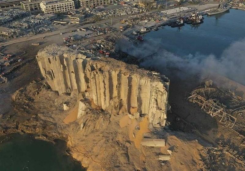ورود ماکرون و میشل عون به محل وقوع انفجار مهیب بیروت