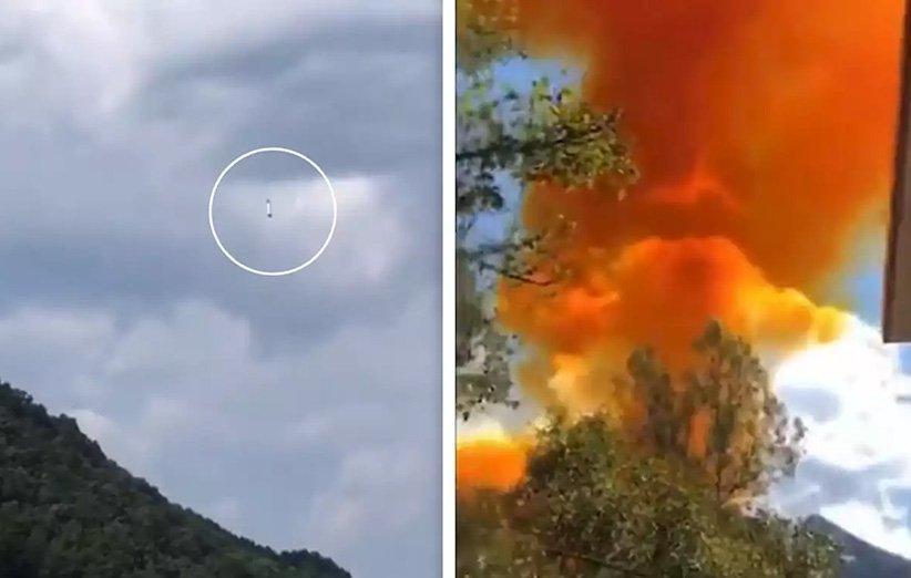 بوستر موشک تازه پرتاب شده چین در نزدیکی یک مدرسه سقوط کرد