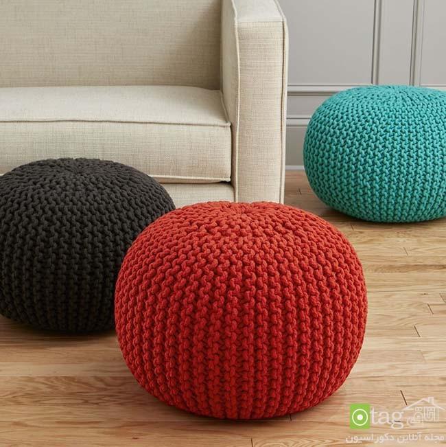 انواع مدل های صندلی پوف مناسب اتاق نشیمن و پذیرایی منزل