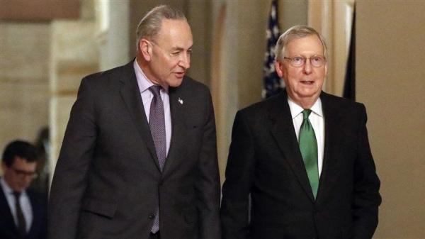 خبرنگاران توافق رهبران سنای آمریکا برای تقسیم قدرت