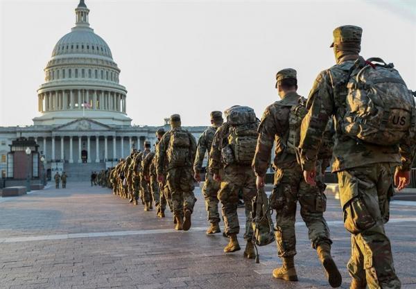 موافقت پنتاگون با تمدید حضور 2300 نیروی گارد ملی در ساختمان کنگره