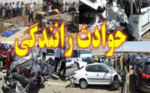3 کشته و زخمی در تصادف پراید و کامیون